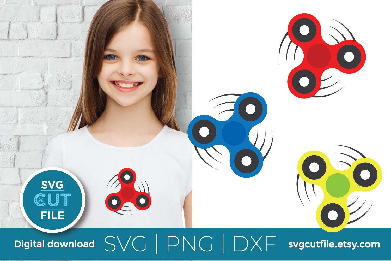 Fidget spinner svg bundle - Boy toy - Hand spin master example image 3