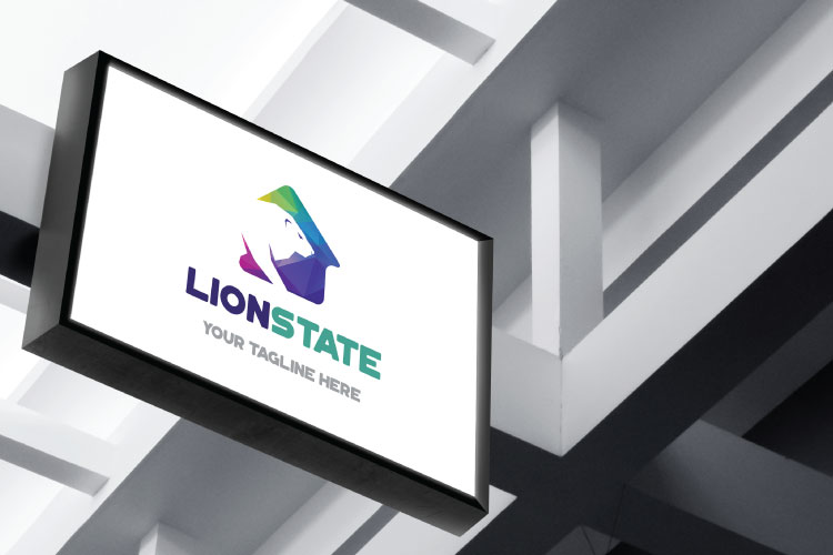 Lion Home Logo Design example image 3