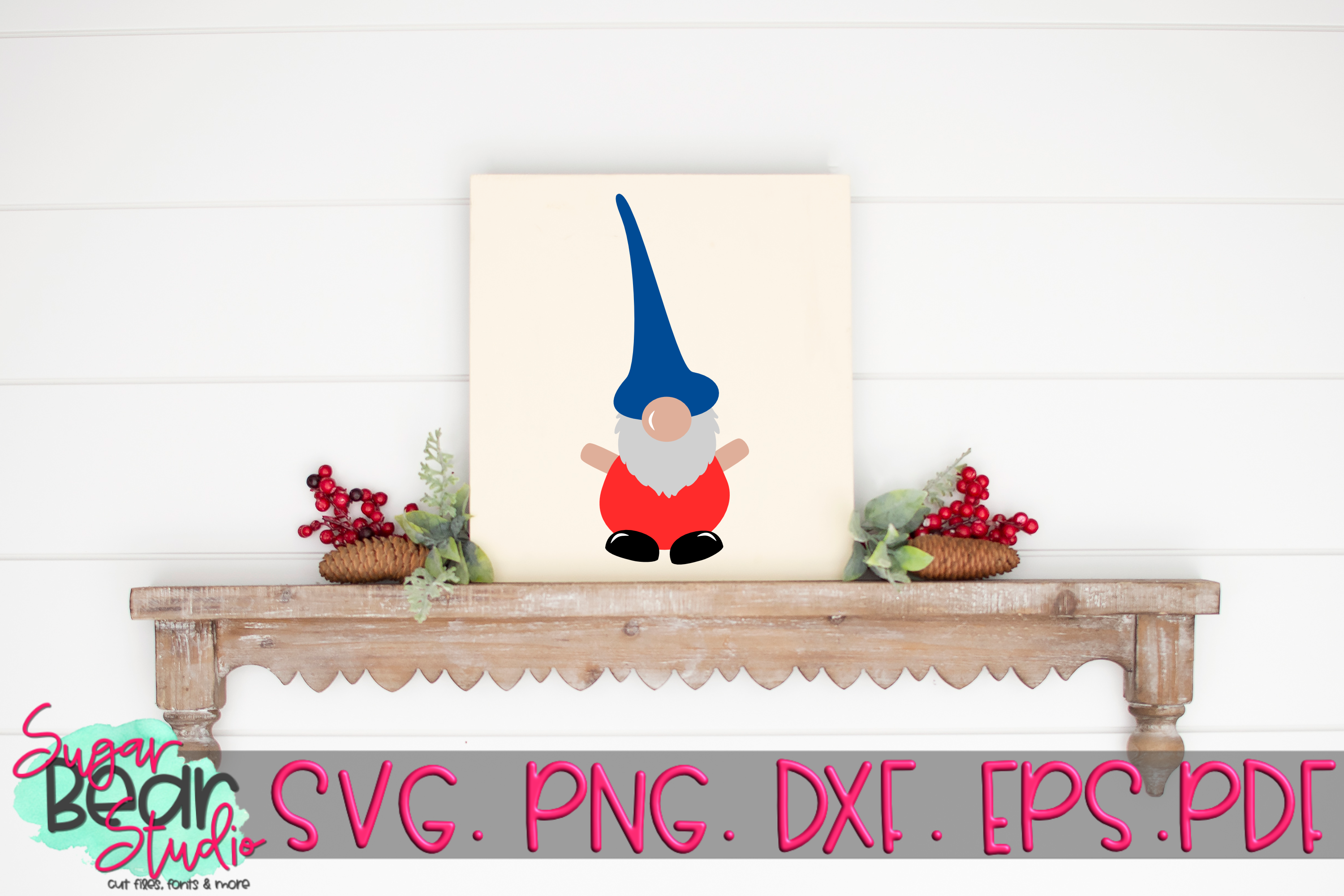 Tall Hat Gnome - A Gnome SVG example image 4