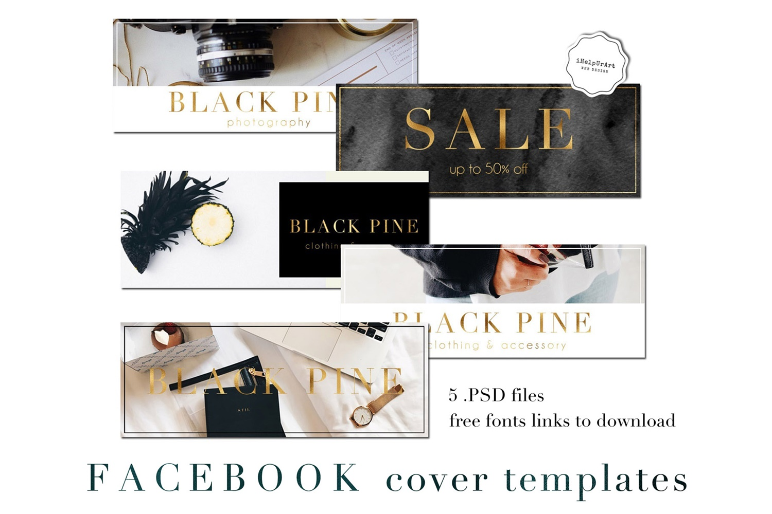 Facebook Cover Template - PSD example image 1