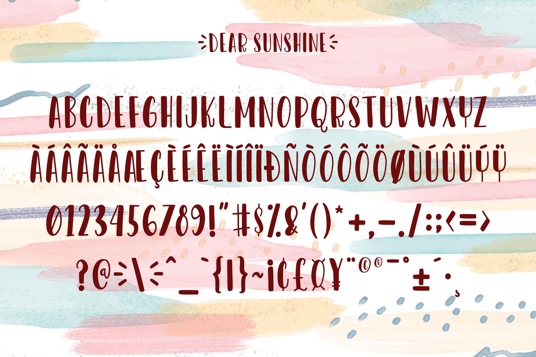 Dear Sunshine example image 9