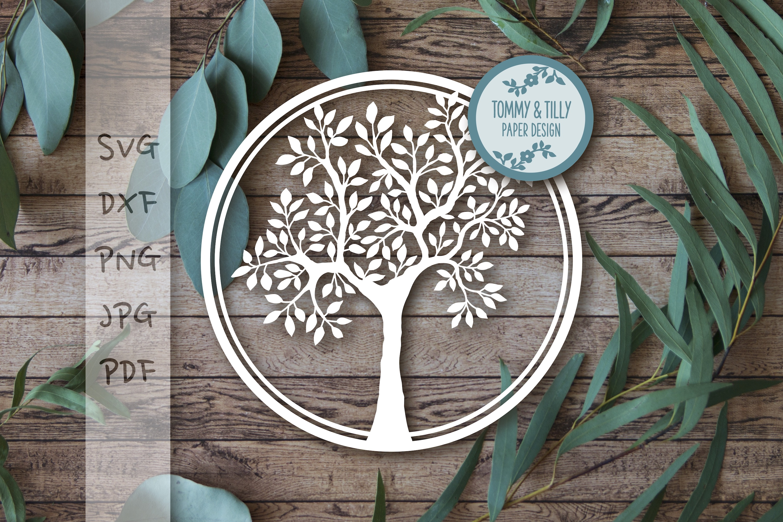 MEGA BUNDLE! Family Tree Cut Files - SVG | Papercut example image 17