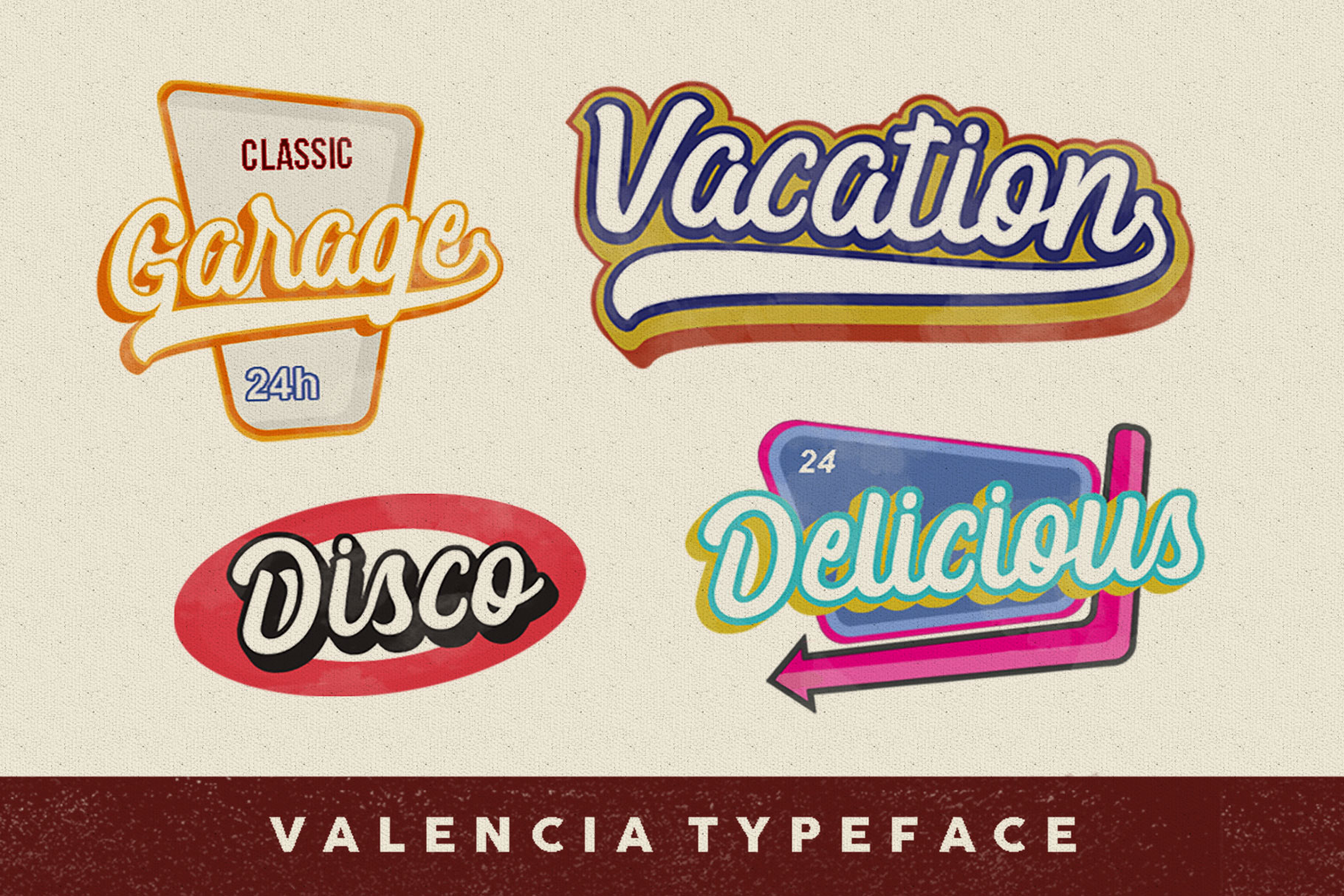 Valencia Typeface example image 5