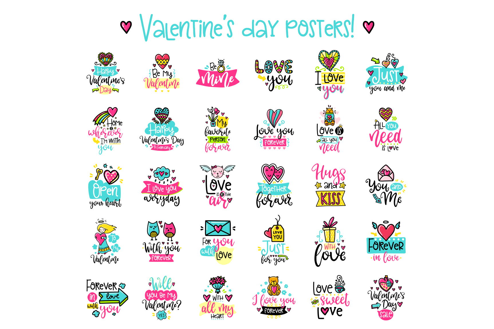 90 Valentine's Day Cards - Love Set example image 4