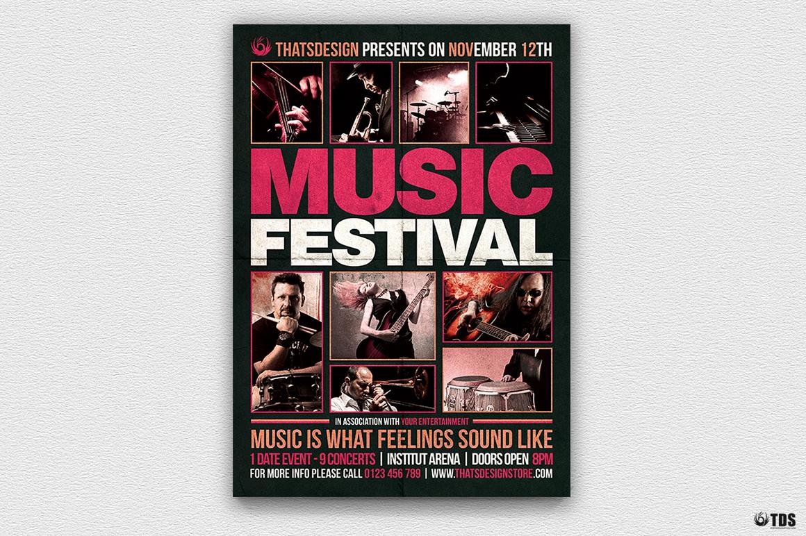 Music Festival Flyer Template V18 example image 2