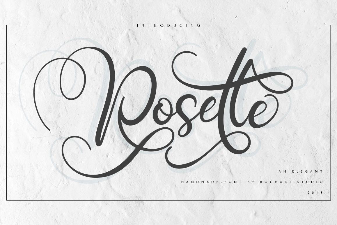Rosette Script example image 1