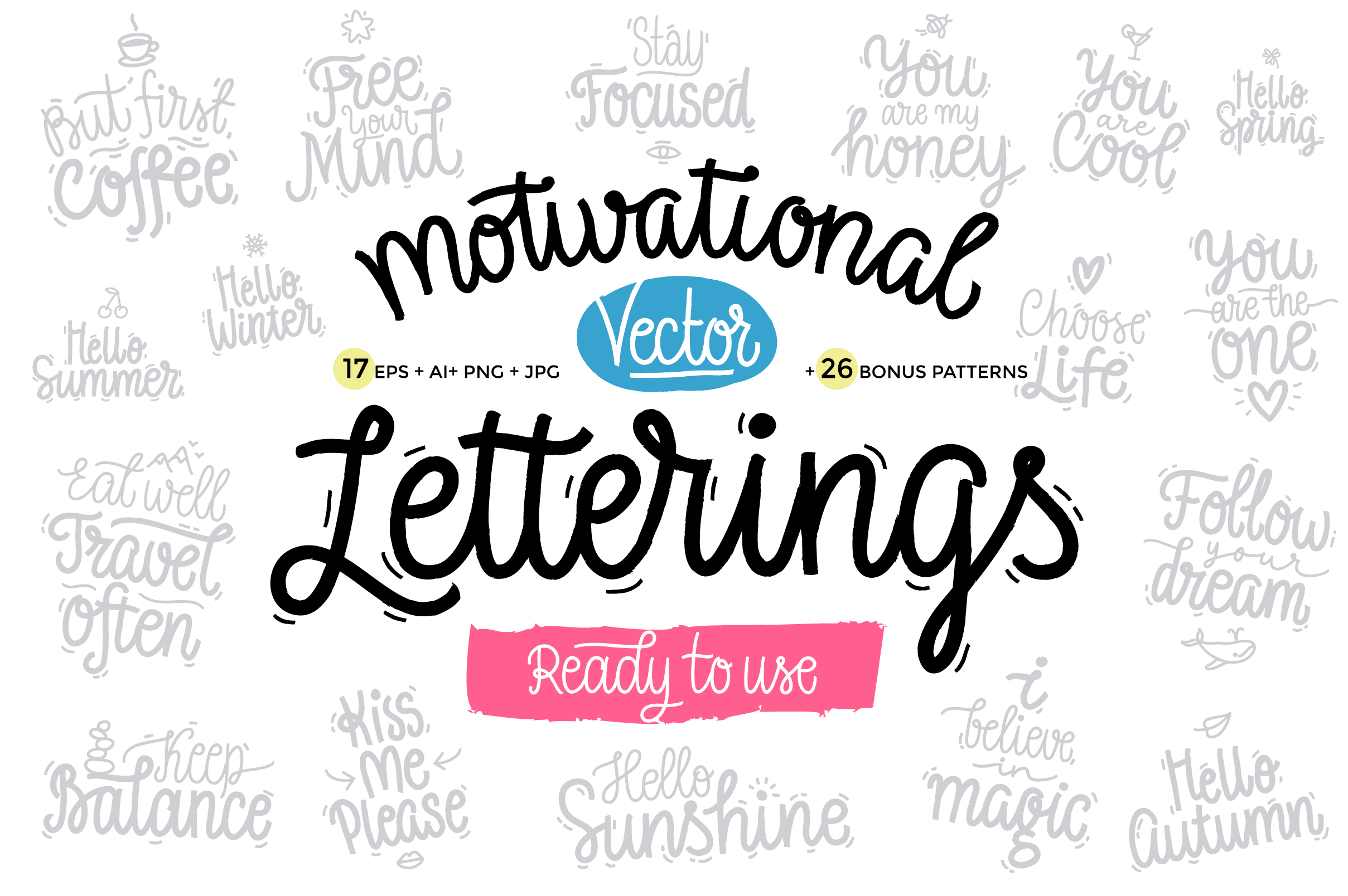 Motivational Vector Letterings example image 1