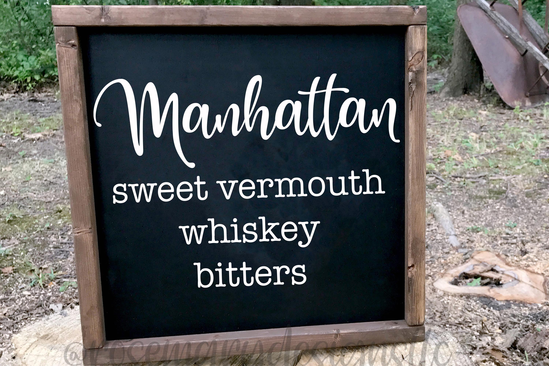 Manhattan Recipe SVG example image 1