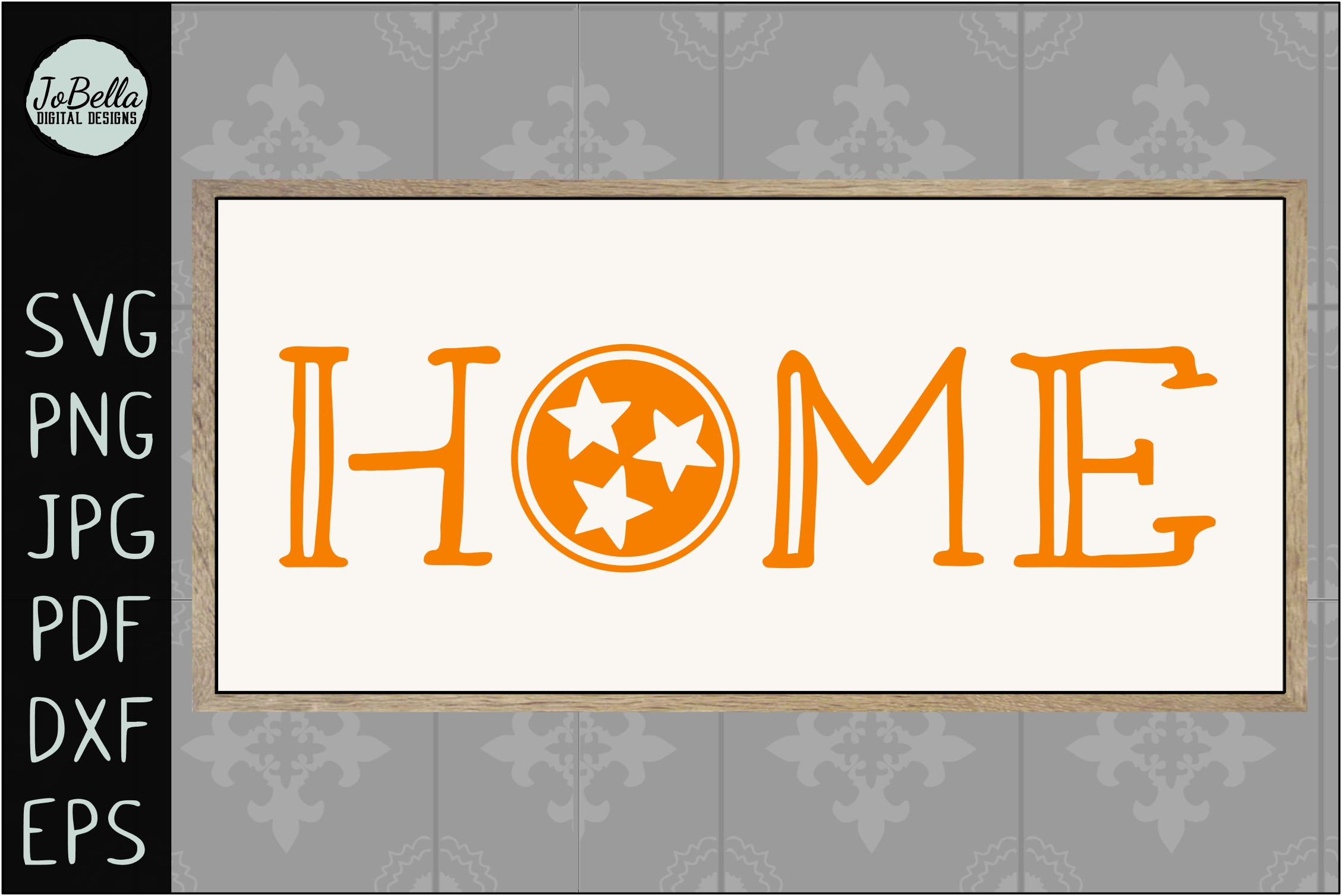 Home with Tennessee TriStar SVG, Sublimation PNG & Printable example image 3