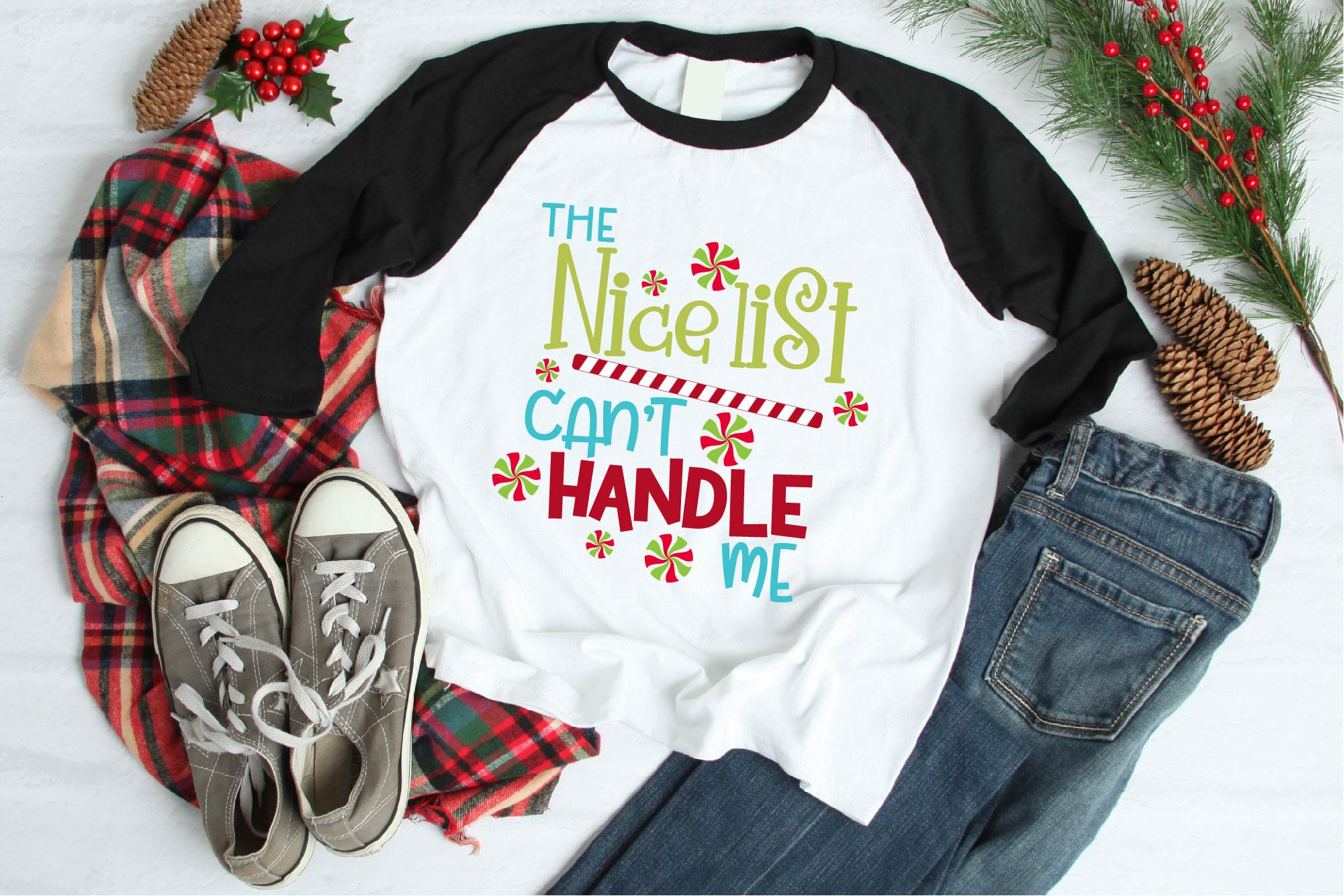 Naughty List SVG Bundle, Santa's Naughty List, Christmas example image 2