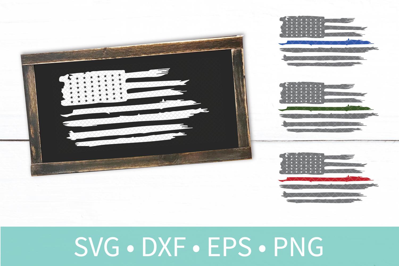 Fourth of July SVG Bundle - Flag - Blue Line - Wild Free USA example image 3