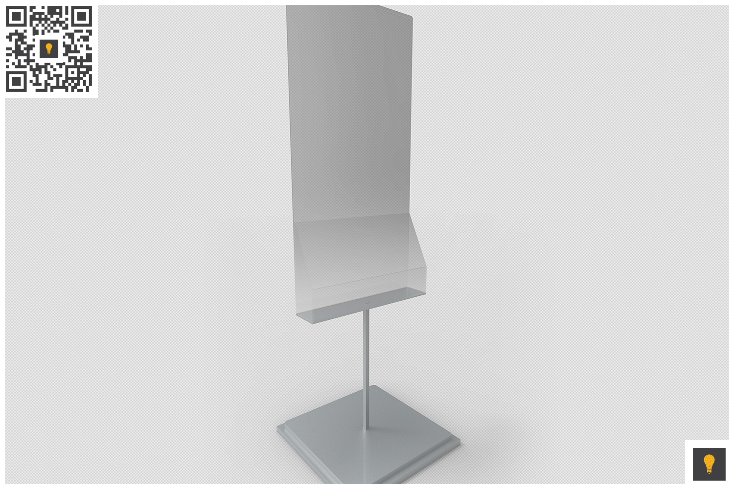 Poster Stand with Rack 3D Render example image 3