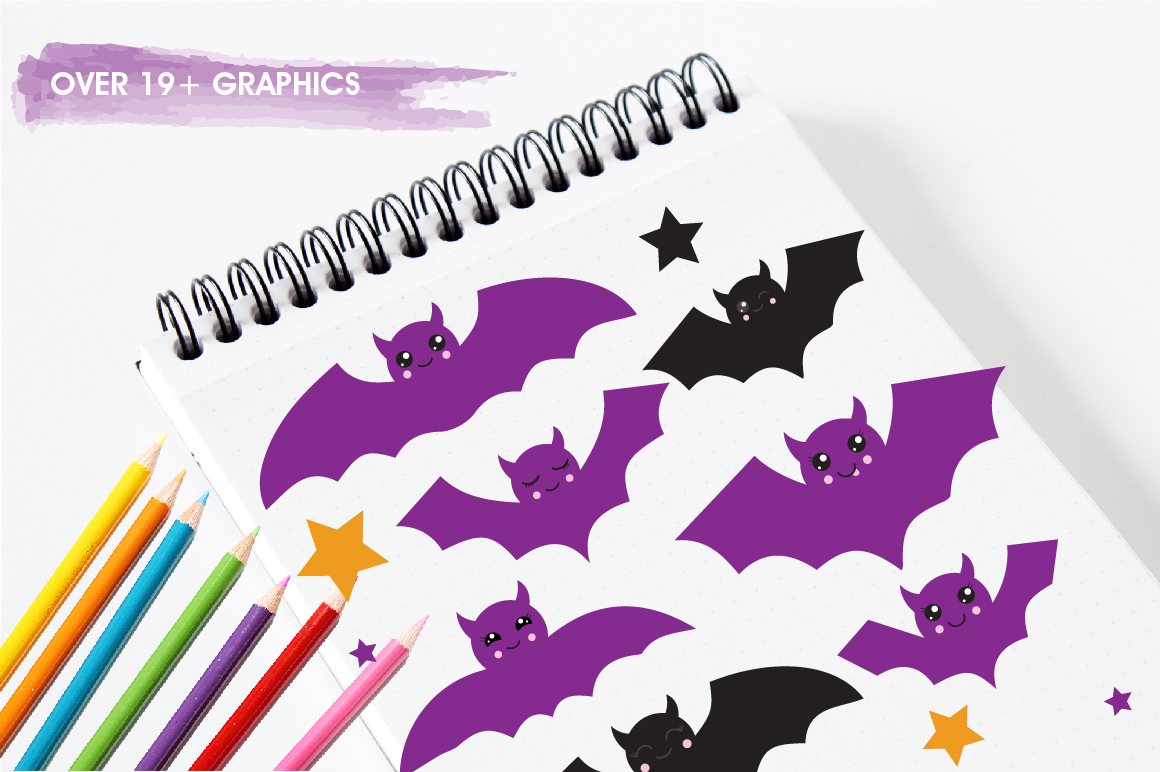 Halloween Bats graphics and illustrations example image 3