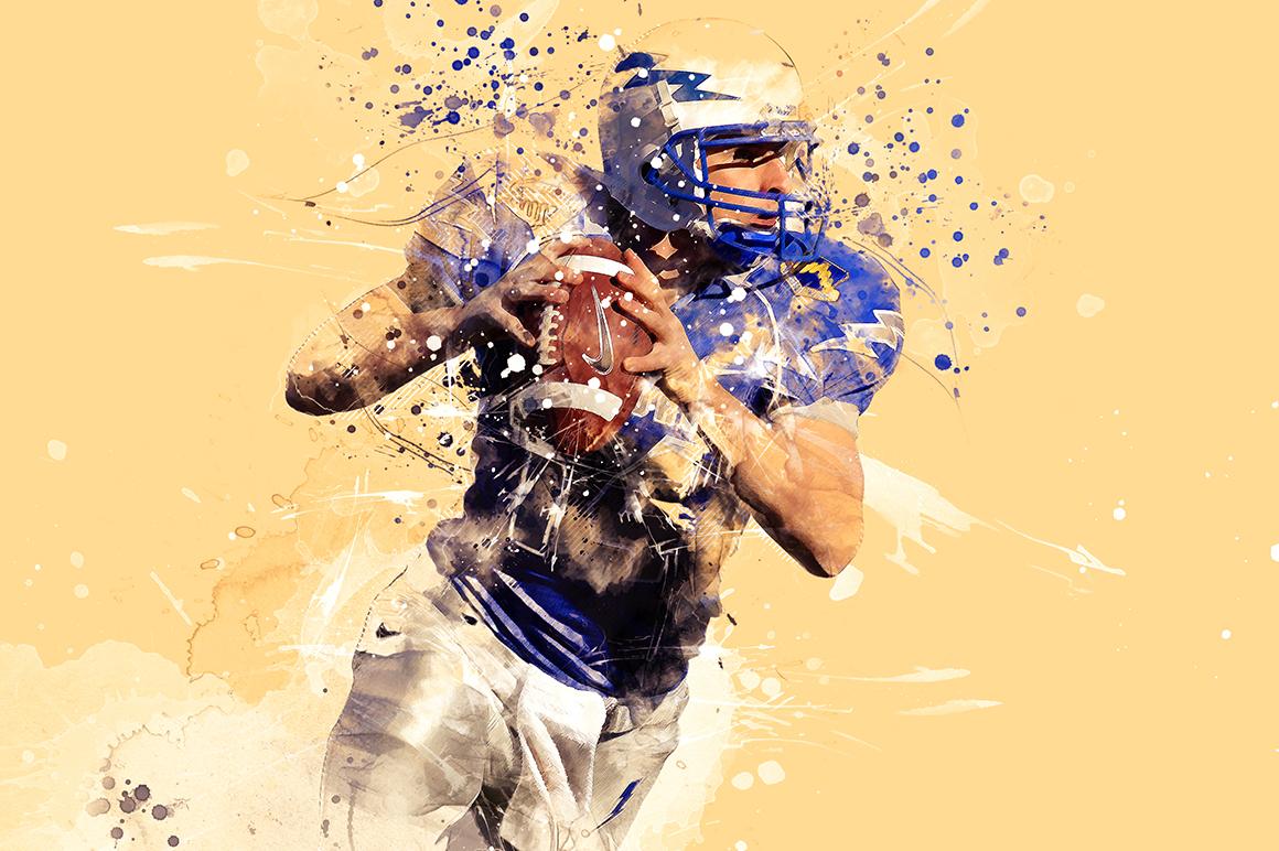 Sports Modern Art Photoshop Action example image 3