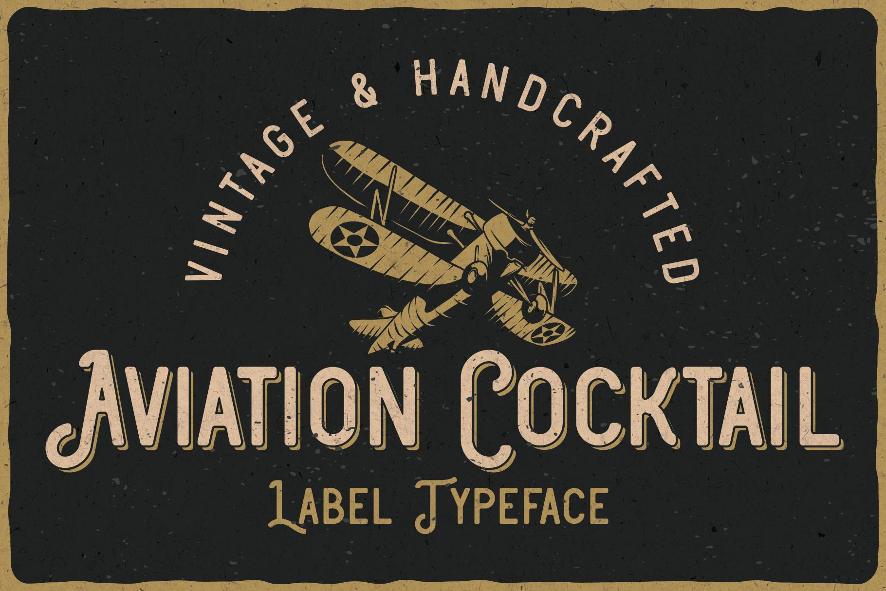 Aviation Cocktail Font plus BONUS example image 1