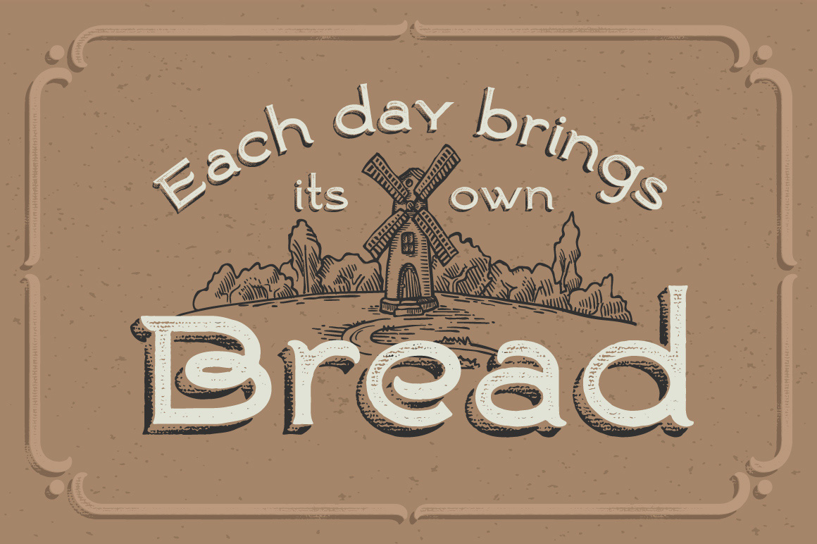 Ranch vintage font & illustrations example image 3
