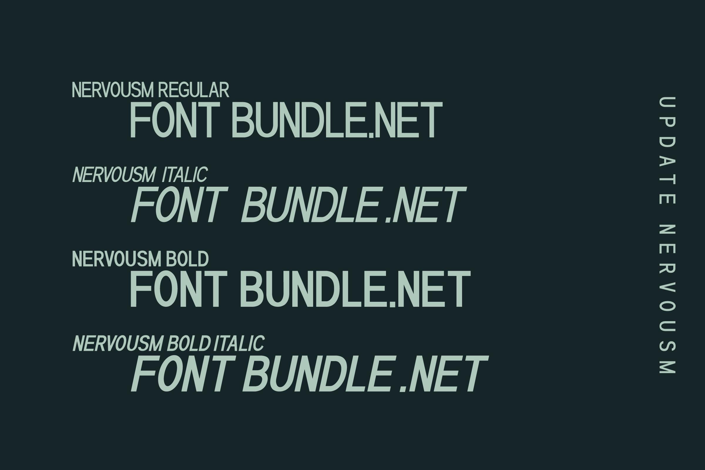 NERVOUSM Font UPDATE  Elegant San Serif Style example image 2