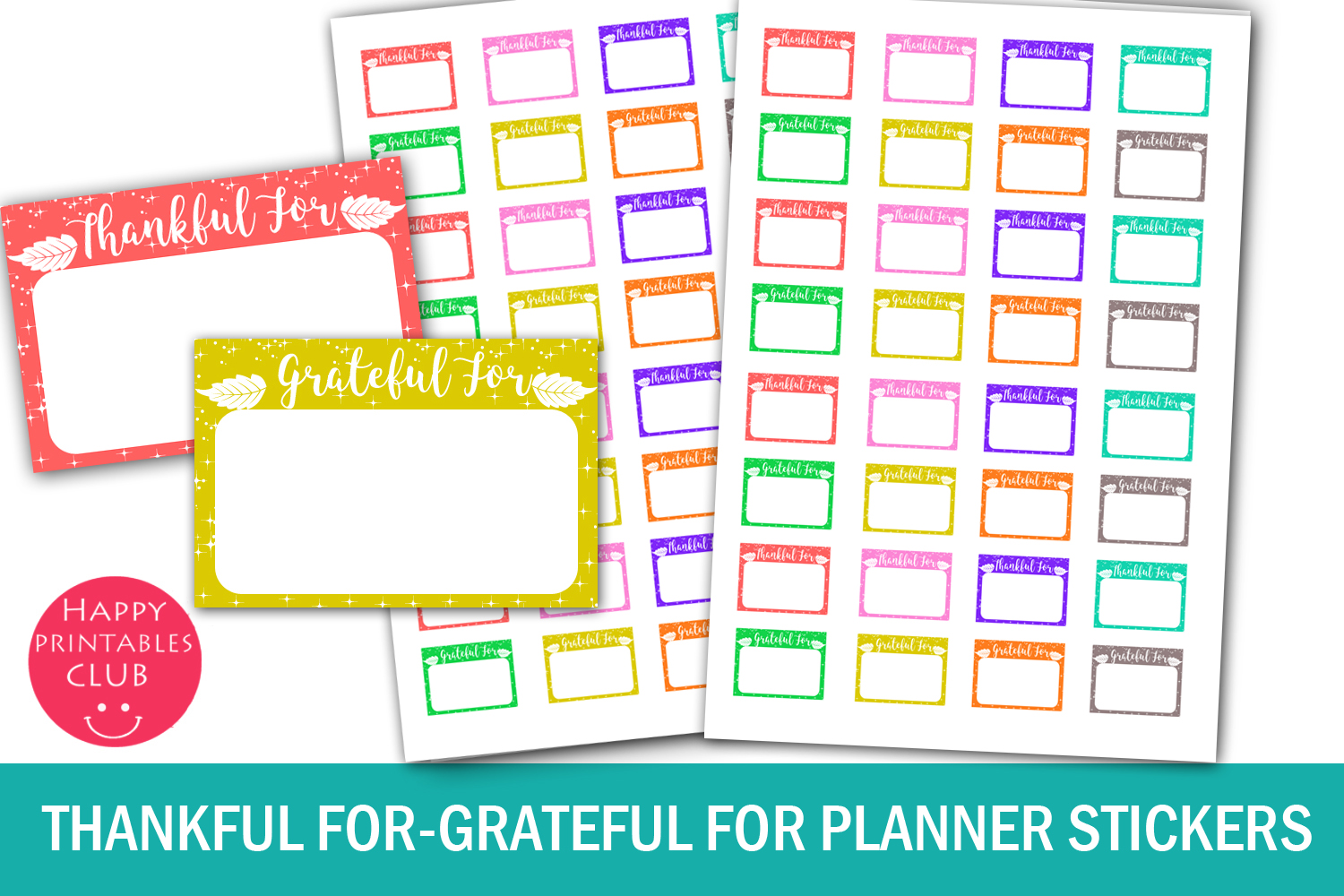 Thankful For Planner Stickers- Grateful For Planner Stickers example image 1