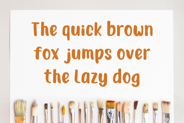 Junior Brush - Handwritten Brush Font example image 3
