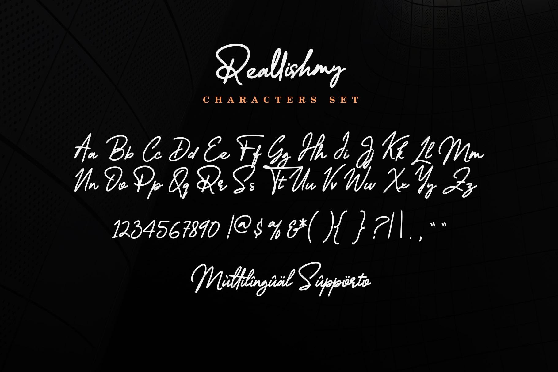 Reallishmy // Signature Font example image 11