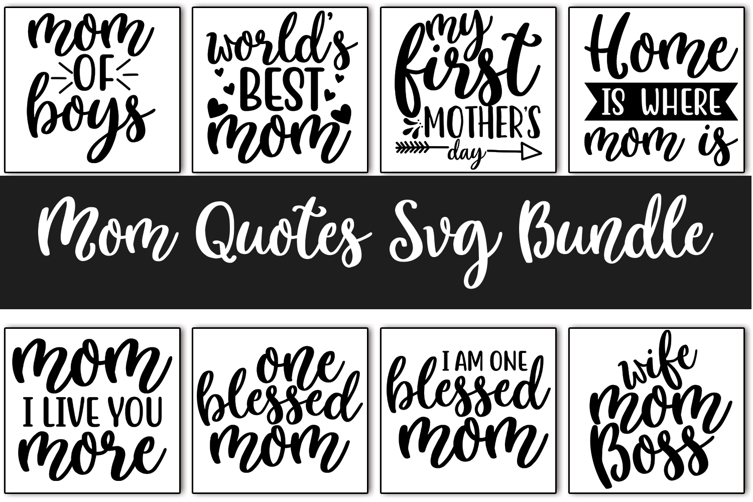 Mom Quotes SVG Bundle Vol_0.1 example image 1