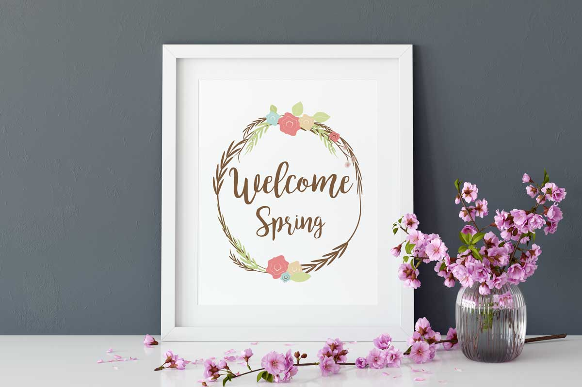 Welcome Spring Wreath example image 1