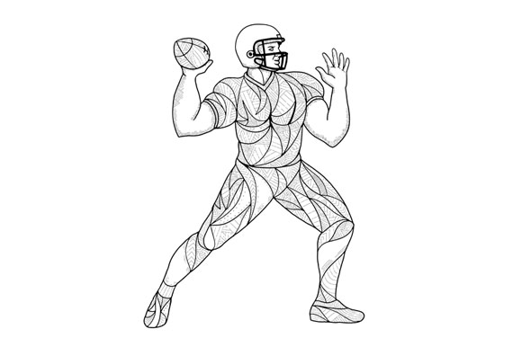 Quarterback Throwing Action Zentagle example image 1