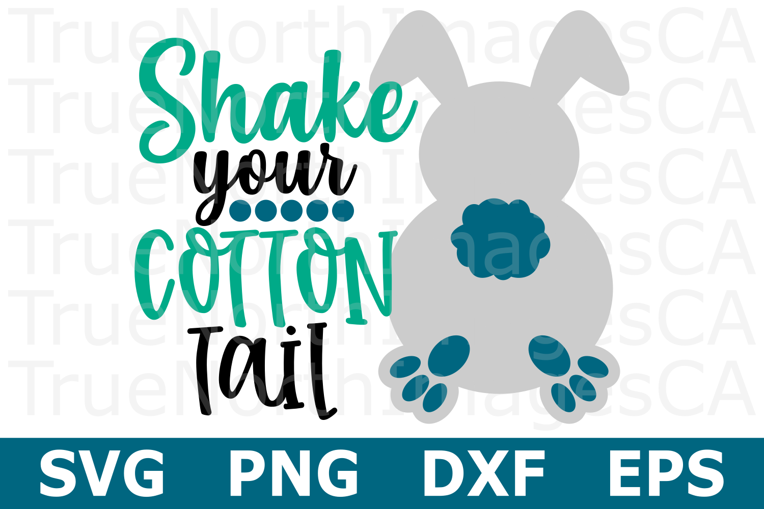 Shake Your Cotton Tail - An Easter SVG Cut File example image 1