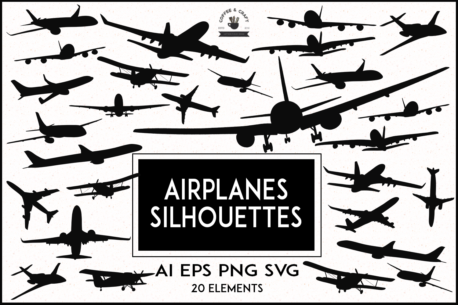 Airplanes Silhouettes example image 1