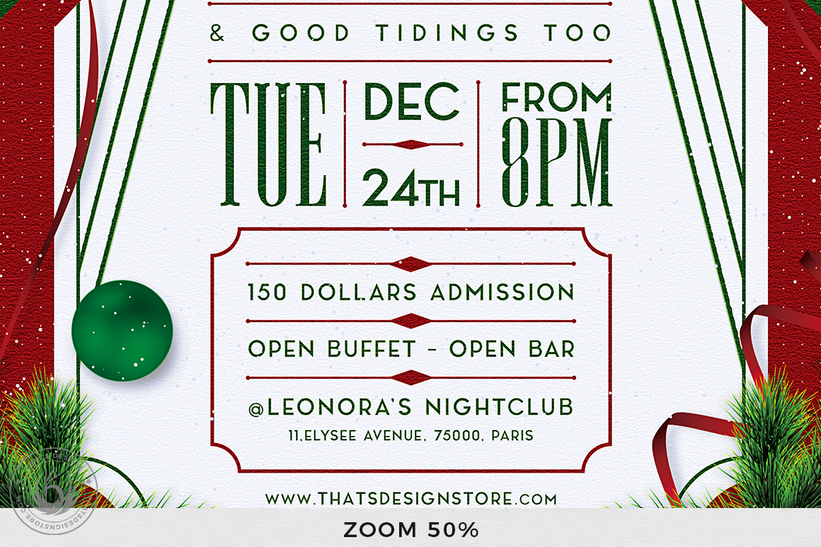 Christmas Eve Flyer Template V8 example image 8
