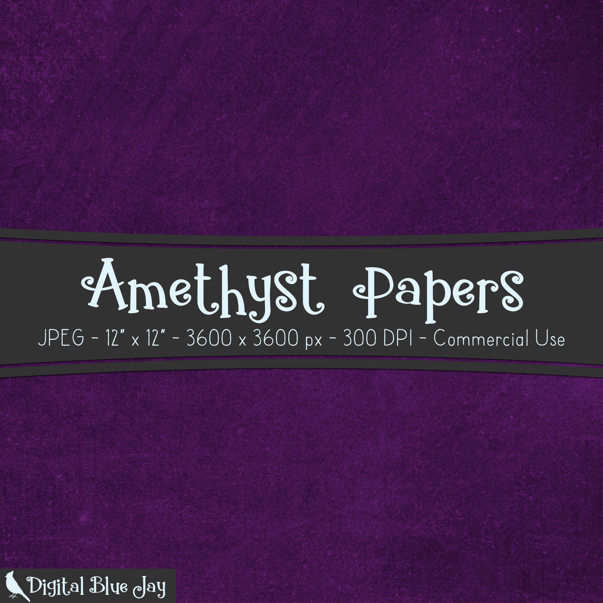 Digital Paper Textured Backgrounds - Amethyst Purple example image 2