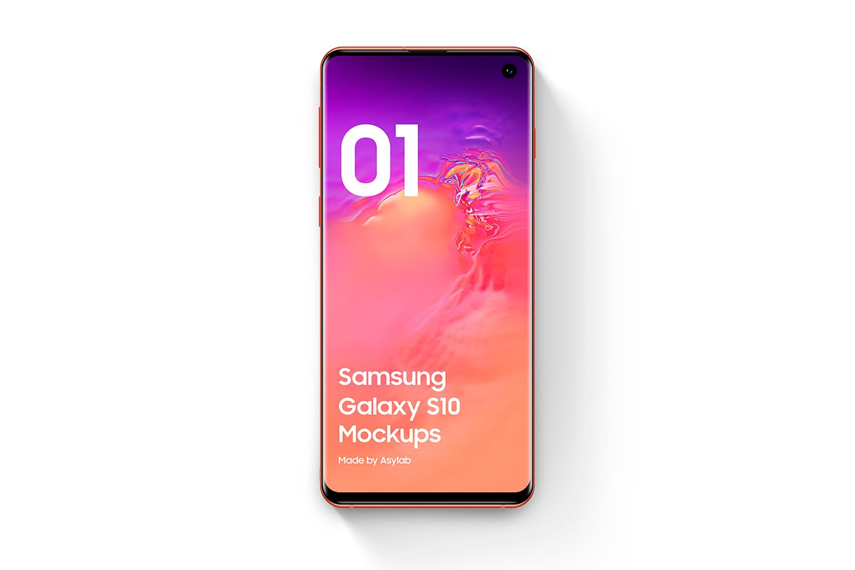 Samsung Galaxy S10 - 21 Mockups - 5K - PSD example image 7