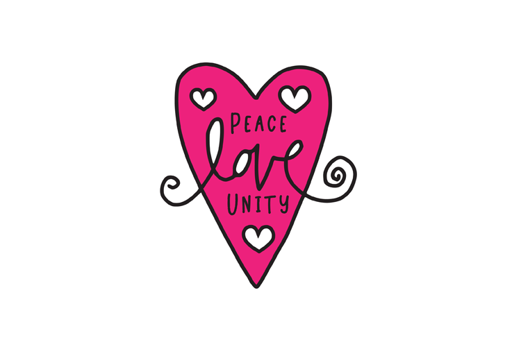 Peace Love Unity SVG example image 2