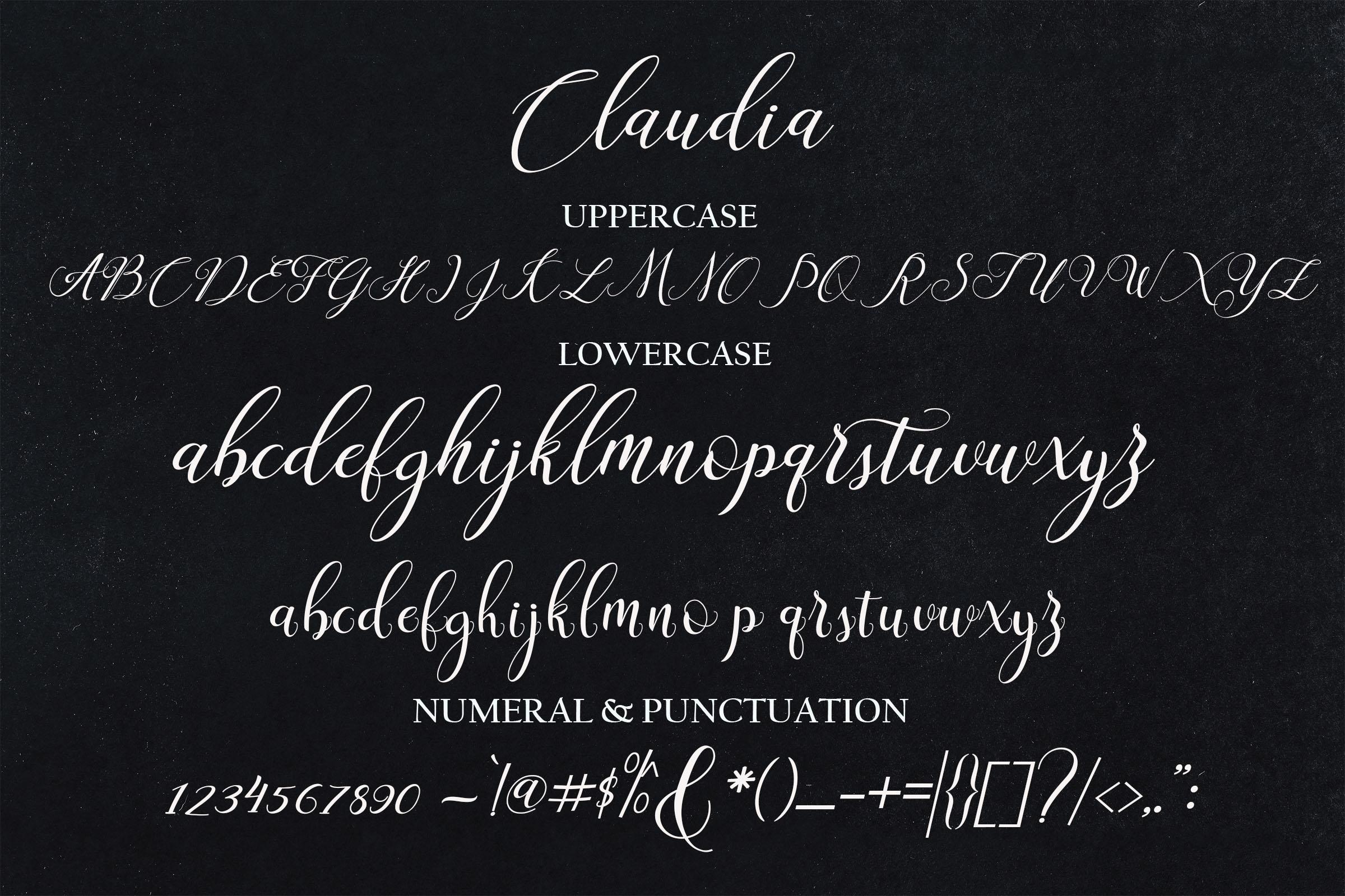Claudia Script example image 6