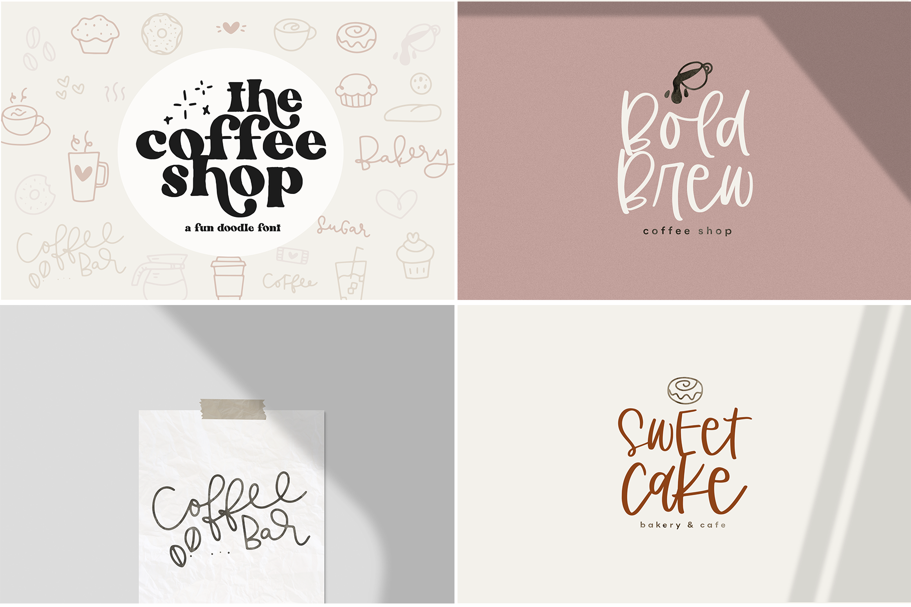 The Coffee Bundle - 6 Fun & Quirky Fonts example image 21