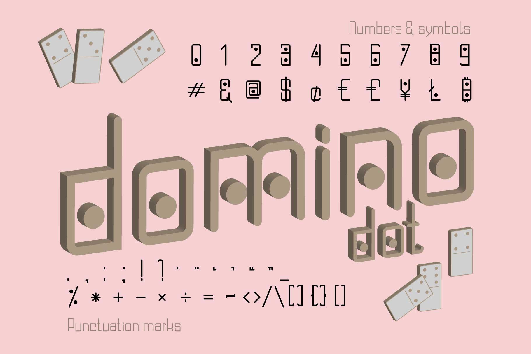 Domino-dot monospace san serif font duo example image 4