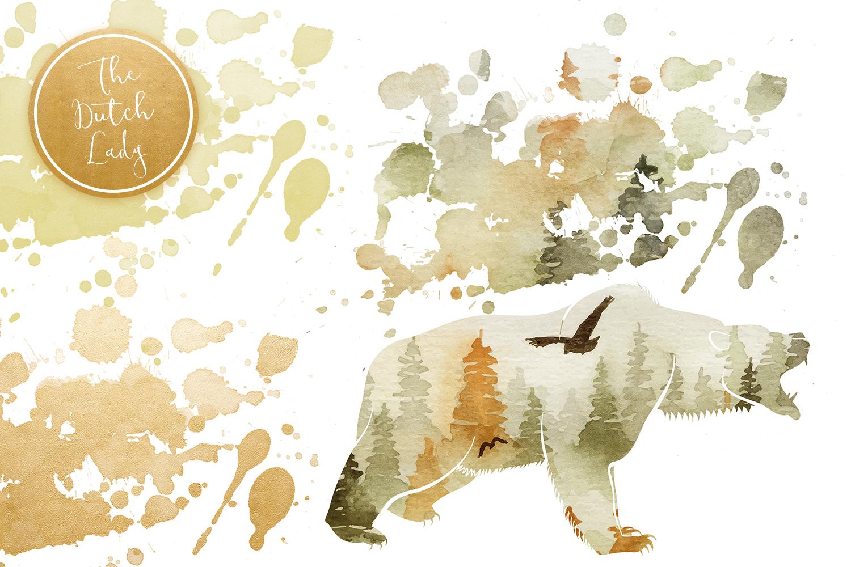 Forest Animal Boho Autumn Clipart Set example image 6