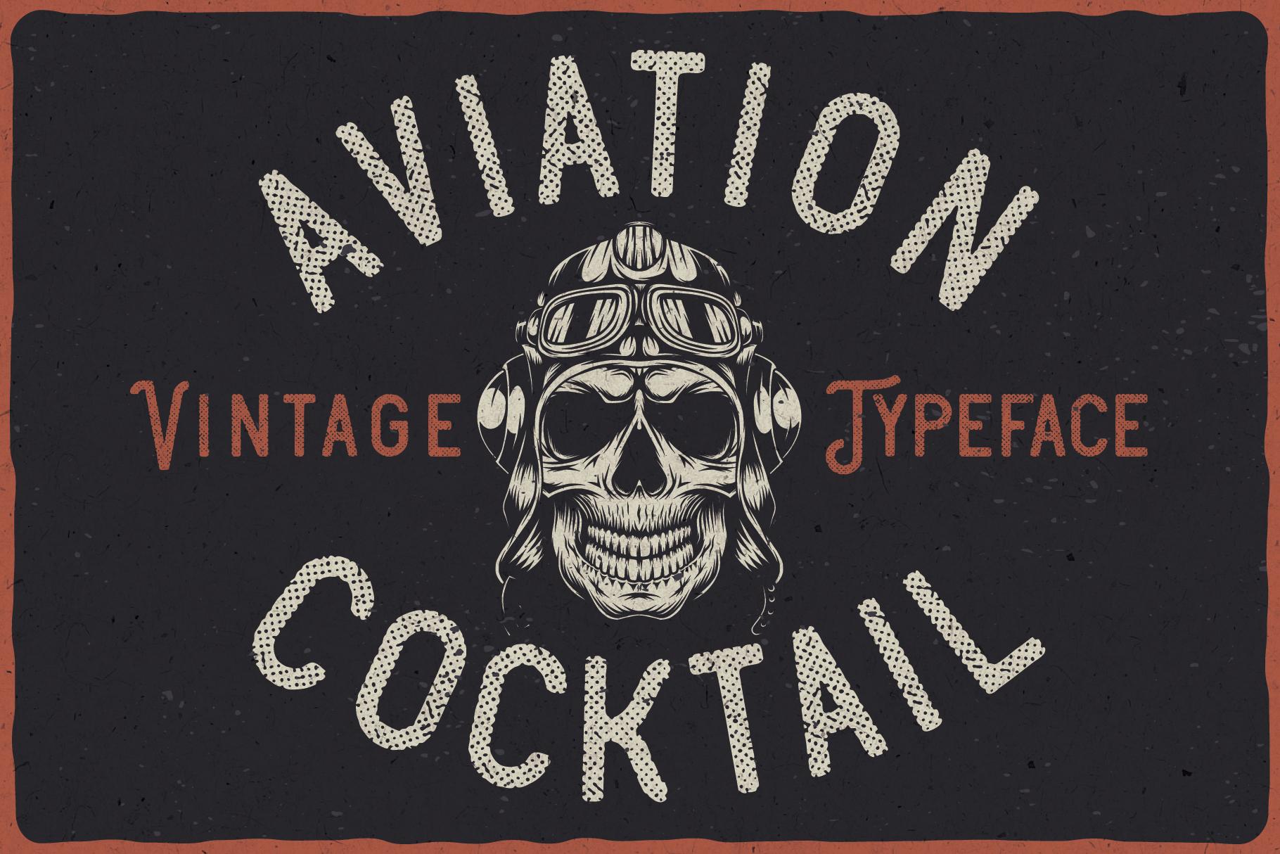 Aviation Cocktail Font plus BONUS example image 6