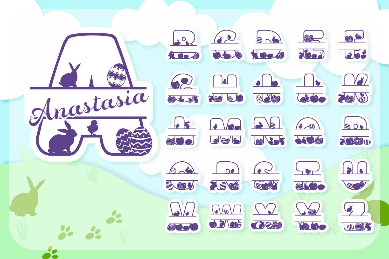 Easter Joy Font Pack | Easter Font for Cricut & Cameo example image 4