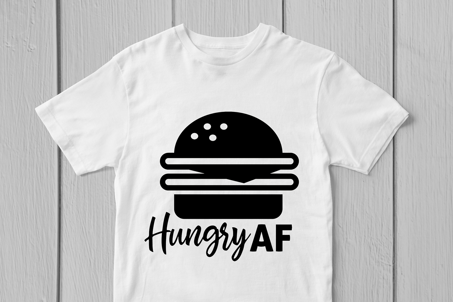 Hungry AF - Food SVG EPS DXF PNG Cutting Files example image 2