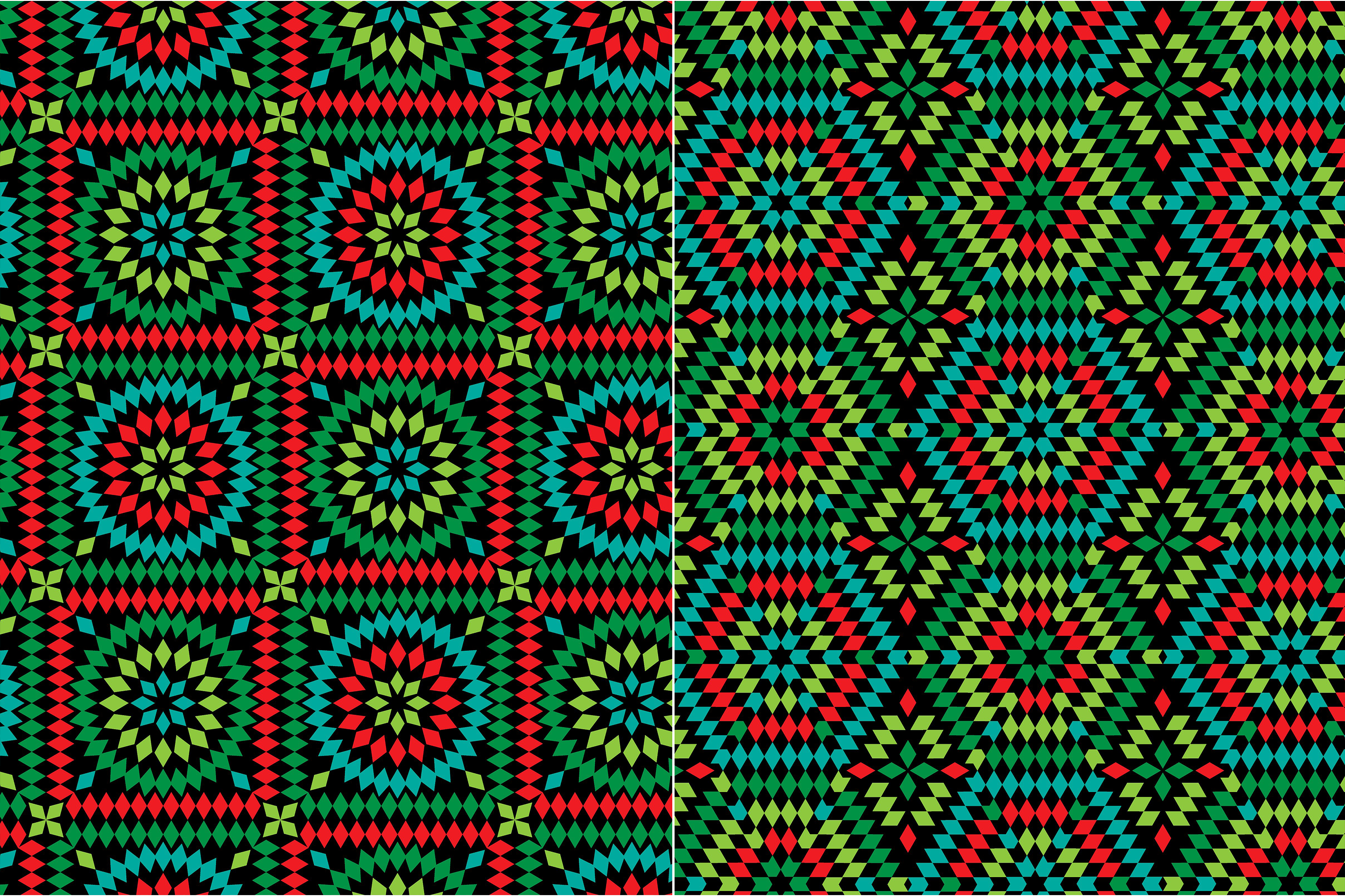 Granny Square Patterns on Black example image 4