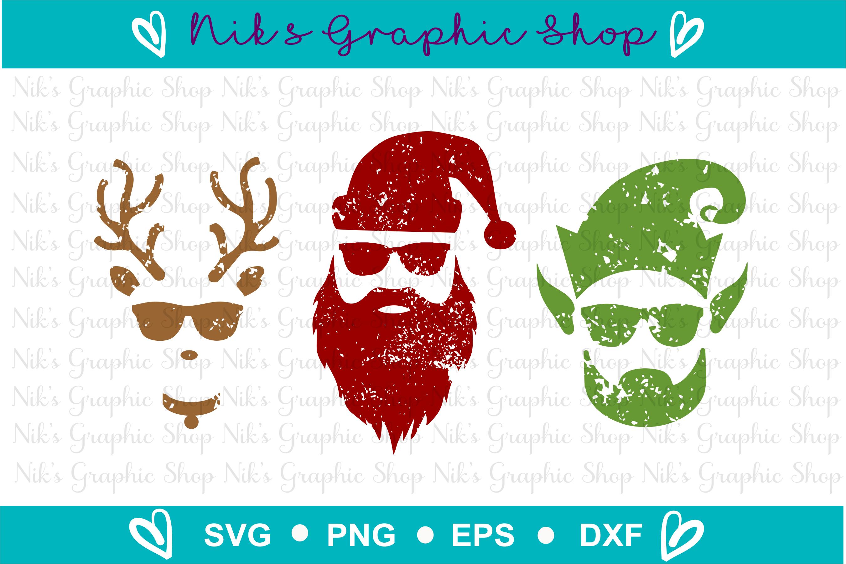 Hipster Santa Svg, Elf Svg, Reindeer Svg, Christmas Svg example image 2