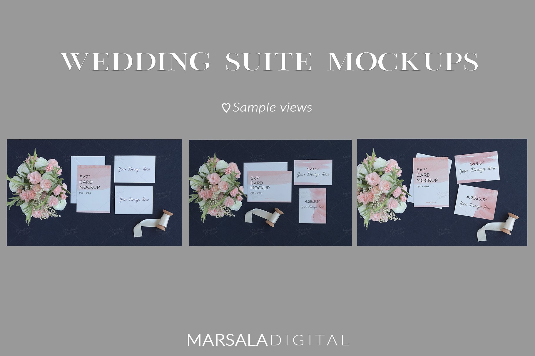 Blush and Navy Wedding Mockup Bundle example image 4