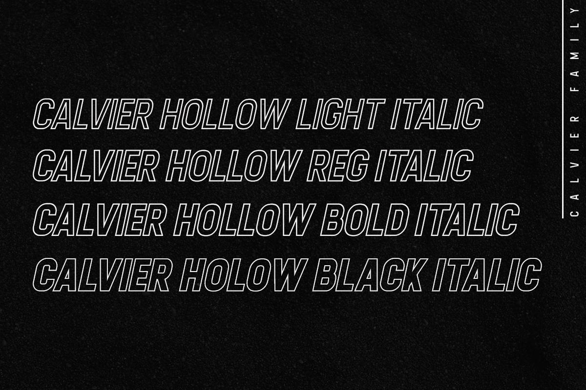 Calvier - Headline Sans Family example image 5