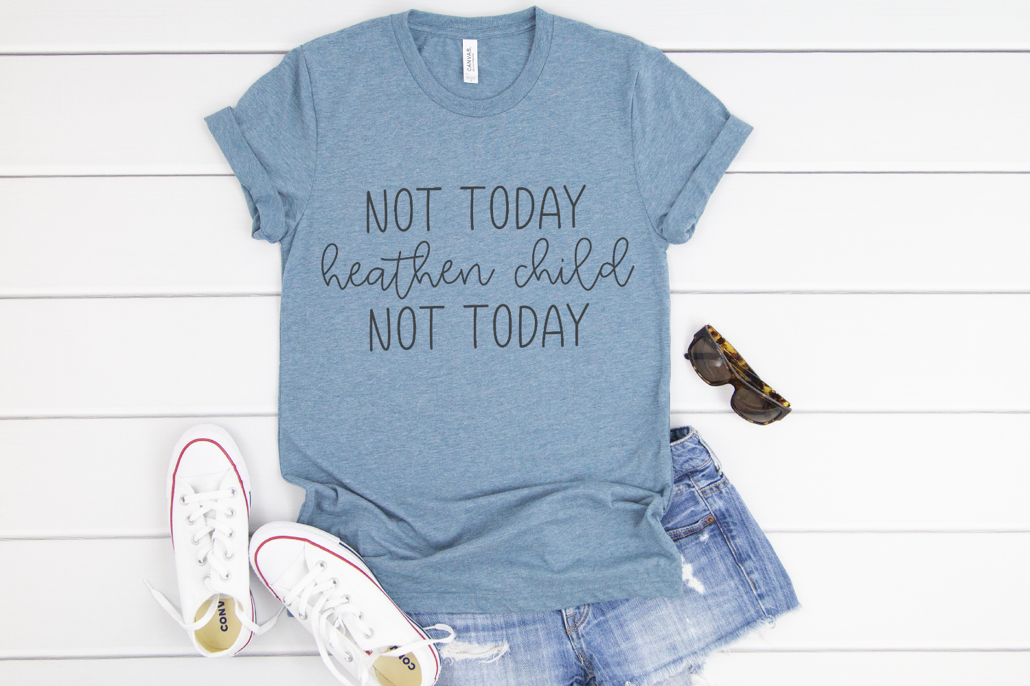 Chaos - Mom - Not Today Heathen Child Not Today SVG example image 2