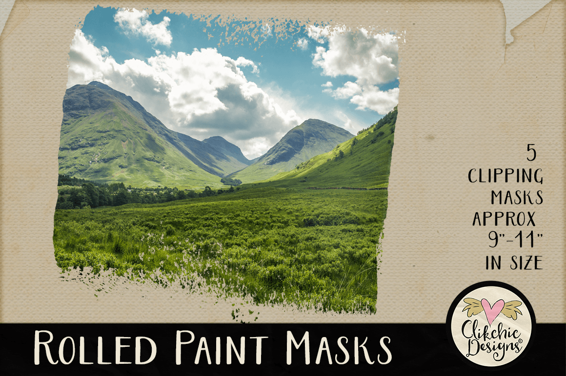 Clipping Masks - Rolled Paint Photoshop Masks & Tutorial example image 4