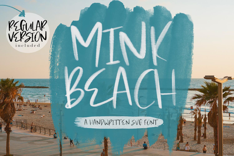 Mink Beach Font & SVG Font example image 1
