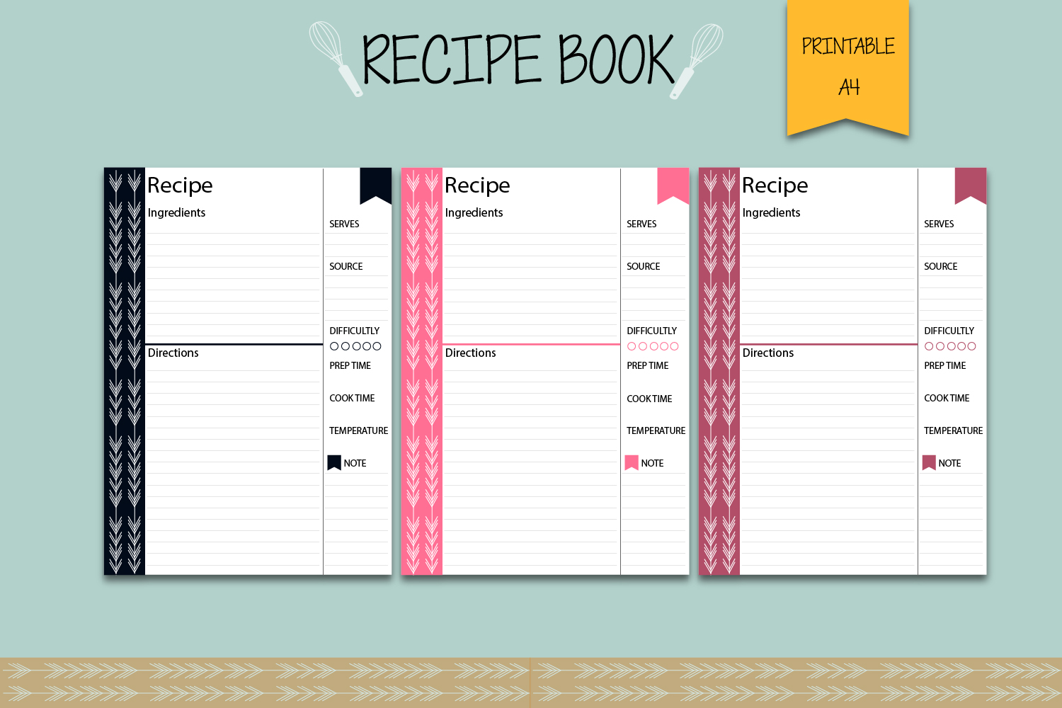 Recipe binder, Recipe book, Printable planner example image 3