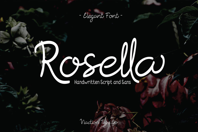 Rosella Script & Sans (Font Duo) example image 1