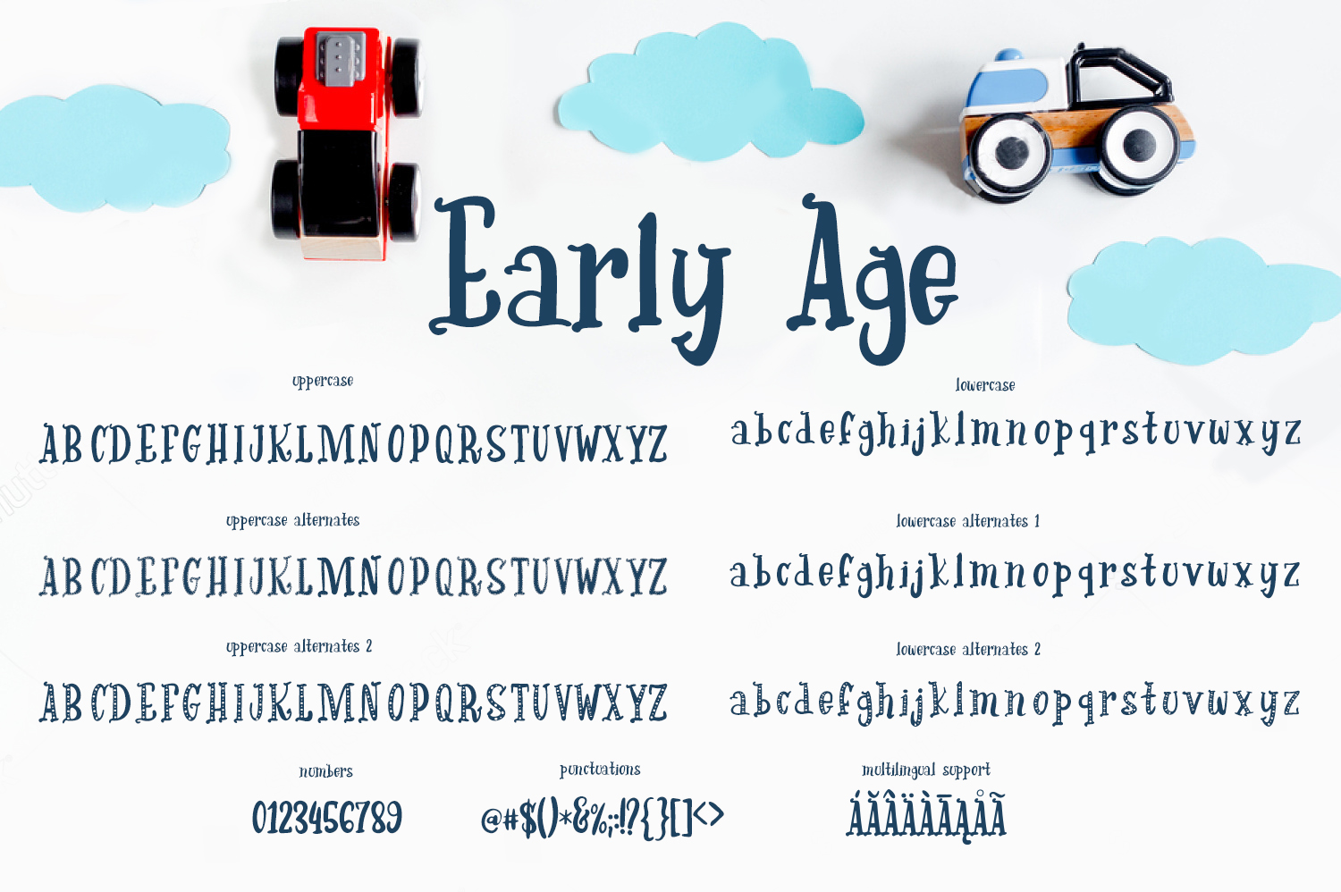 Early Age-kind font example image 4